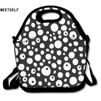 MEETSELF 3D Print eyes Lunch Bags Insulated Waterproof Food Girl Packages Womens Kids Boys Handbags