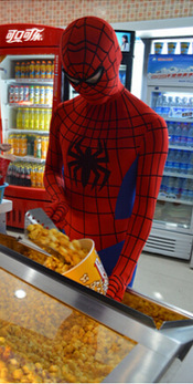 İnanılmaz Spiderman 3D Orijinal Film Spiderman Kostüm Cosplay parti Zentai Suit
