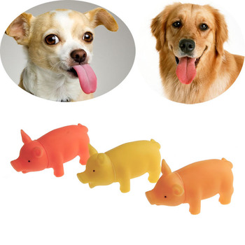 Pet Puppy Chew Squeaker Squeaky Rubber Sound Pig For Dog Toys Play Supplies