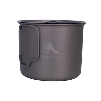 TOAKS 3in1 550 ml Ultralight Titanyum Pot Açık Kamp Titanyum Kase Titanyum Fincan POT-550